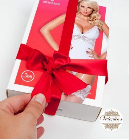 guêpière blanche valentina lingerie