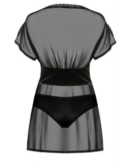 868 bab 1 peignoir babydoll noir obsessive lingerie 4