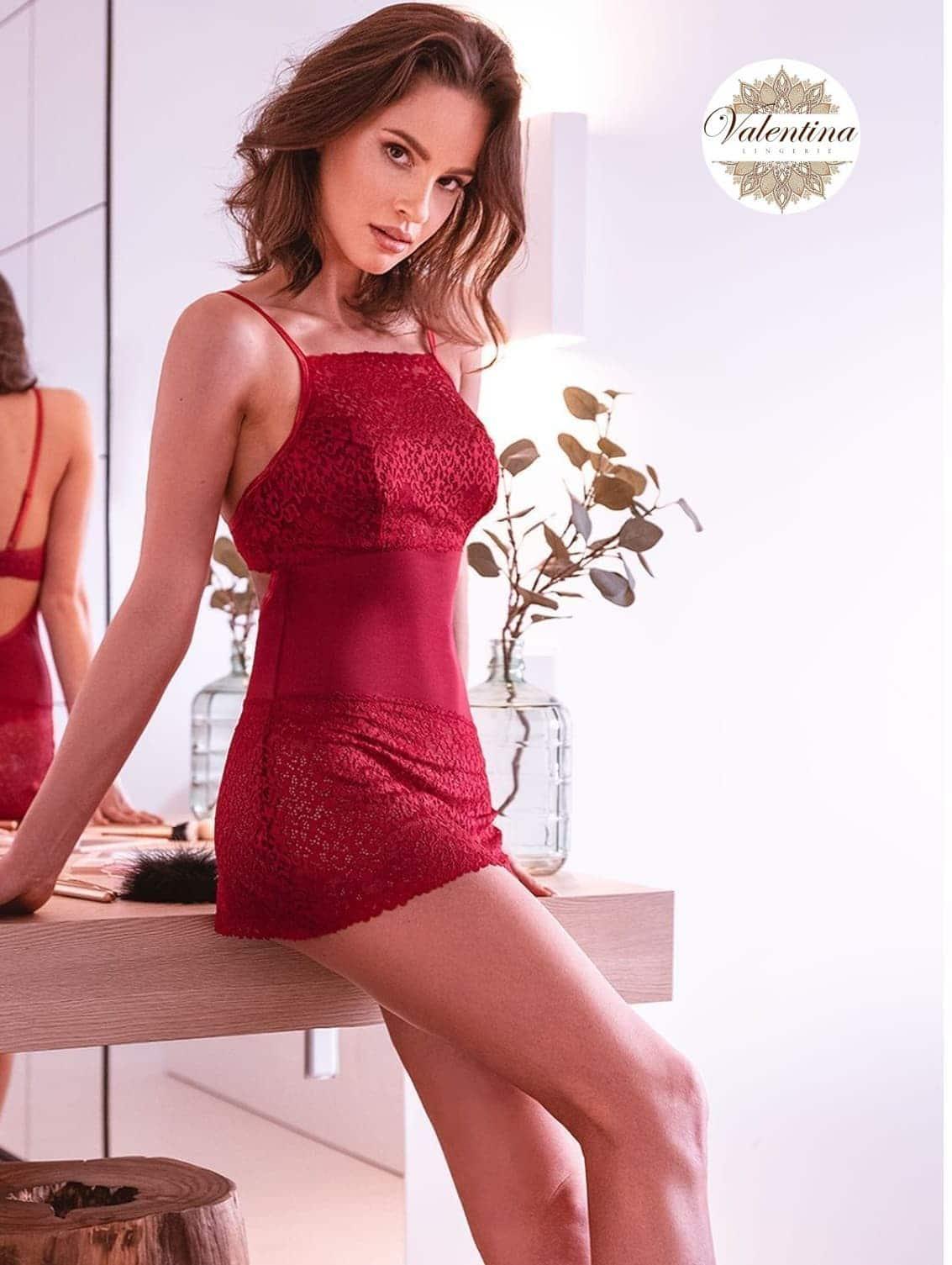 Linda Nuisette rouge valentina lingerie