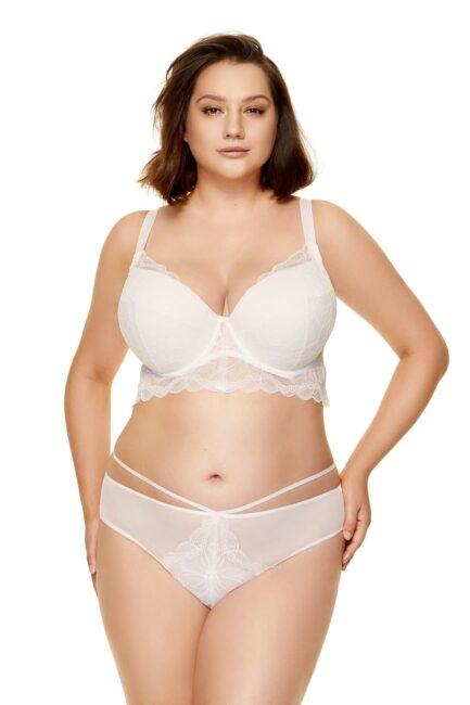 Demi corset en dentelle blanc Charlize