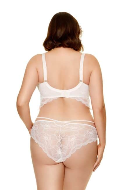 Demi corset en dentelle blanc par valentina lingerie