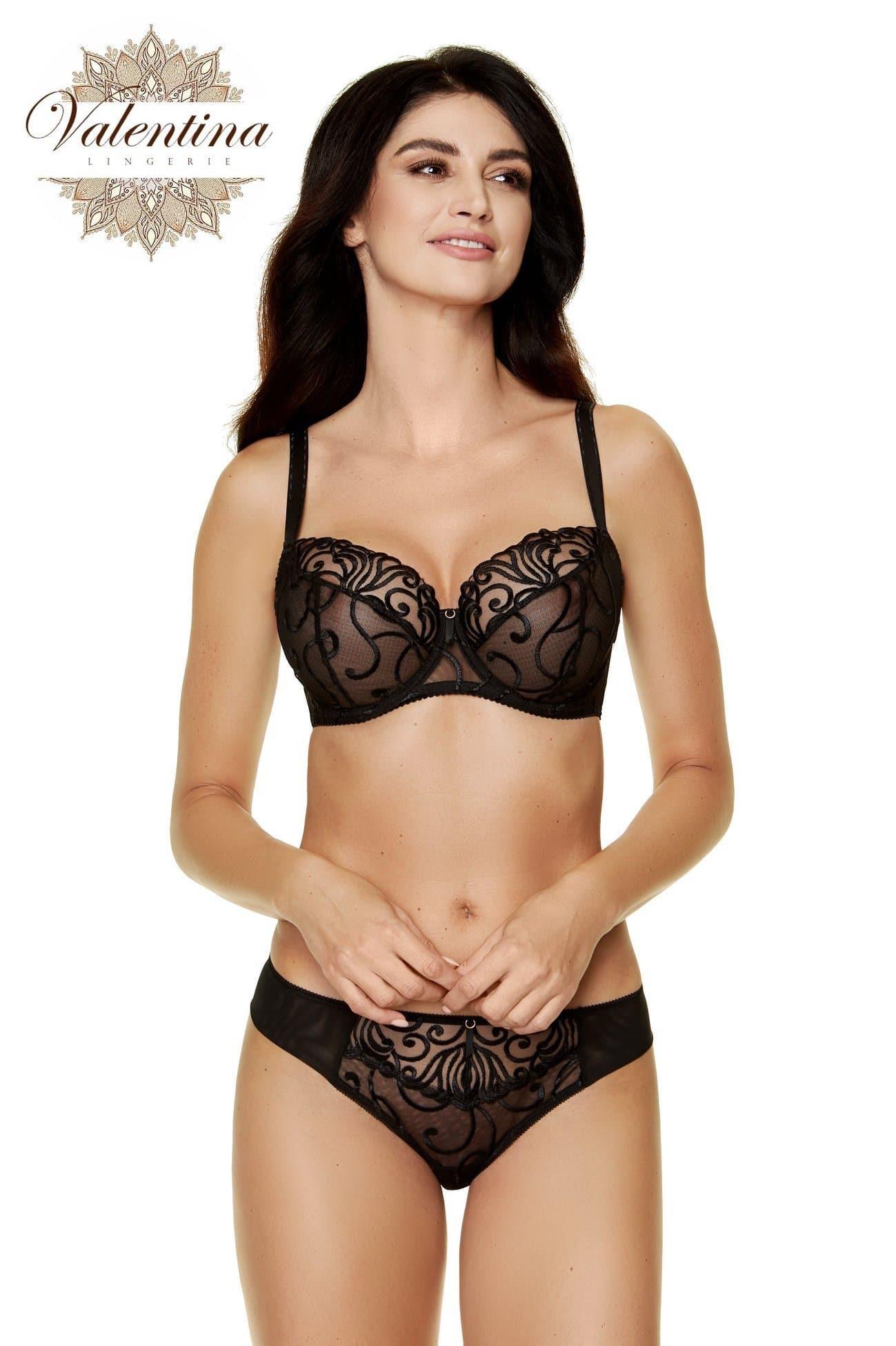 soutien gorge armatures dentelle valentina lingerie noir
