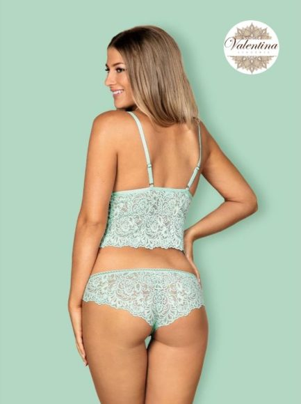 pyjamas delicanta vert valentina lingerie